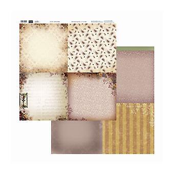 Couture Creations - Damask Pansies 12x12 tum Dubbelsidiga förpackningar med 10 ark
