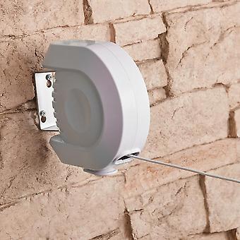 Línea de lavado retráctil de 12 m - carrete de línea de aireación al aire libre montado en la pared larga