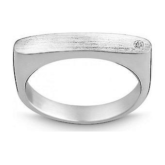 كوين -- خاتم -- الفضة -- الماس -- وز. (H) - العرض 56 - 211046