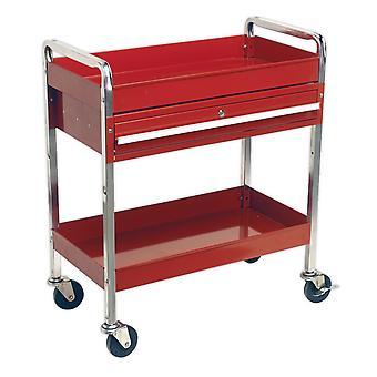 Sealey Cx101D wózek 2-poziomowy o dużej wytrzymałości z szuflady zamykane