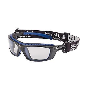 Bolle Baxpsi Platinum Goggles Clear Lens Anti-Scratch & Fog Black And Blue Frame
