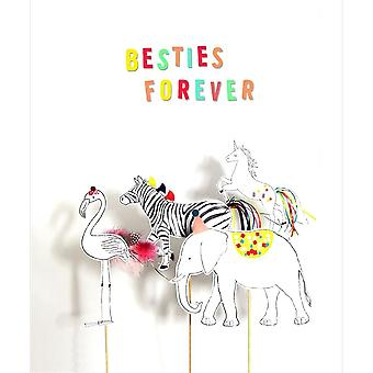 Hallmark I Used To Be A Coffee Cup Card - Besties Forever