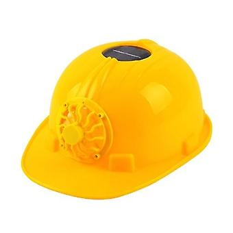 Solar Powered Cooling Fan Safety Helmet Work Hard Cap Hat Working Safety Hard Hat ConstrucitonOutdoor Protective Caps ABS Material Anti Strong Impact