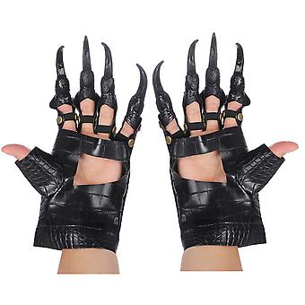 Dragon Claws Cosplay Gloves Halloween Party Costume Black