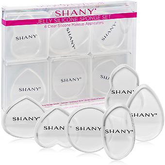 SHANY Stay Jelly Silicone Sponge Set - 6 Clear & Non-Absorbent Makeup Blending Sponges for Flawless Application with Foundation