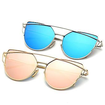 Vierkante gepolariseerde zonnebril voor mannen en vrouwen polygoon gespiegelde lens y1886