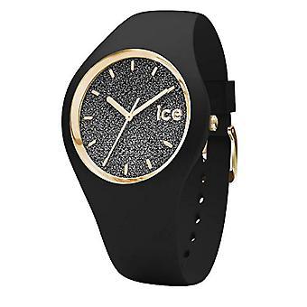 Ice-Watch ICE Glitter Musta, Naisten musta kello silikonihihnalla, 001356, Medium (40 mm)