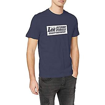 Lee Heritage Tee T-Shirt, Blå (Dark Navy NM), XL Mäns