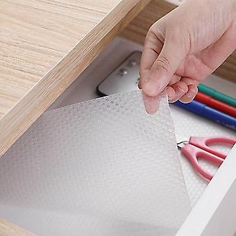 Tapis de couverture d'étagère étanche à l'huile transparent, doublures de tiroir, non adhésif,