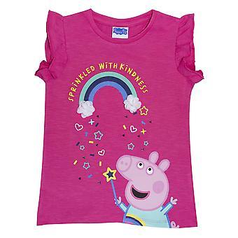 Peppa Gris Piger Venlighed Rainbow T-shirt