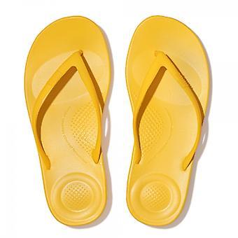 FitFlop Iqushion Ergonomic Ladies Flip Flops Sunshine Yellow