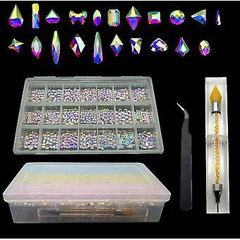 Nowe przedmioty Hot Sell Nail AB Szklane kamienie do paznokci Art Decoration| Cyrkonie & Dekoracje