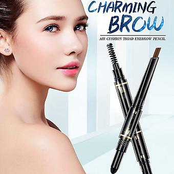 Meiyanqiong Eyebrow Brush Waterproof Long-lasting Three In One Eyebrow Pencil