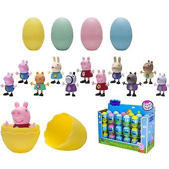 4-Pack Greta Pig Peppa Pig Figures Verrassing Eieren