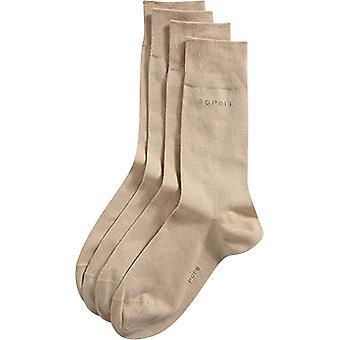 Esprit básico 2 Pack meias - creme