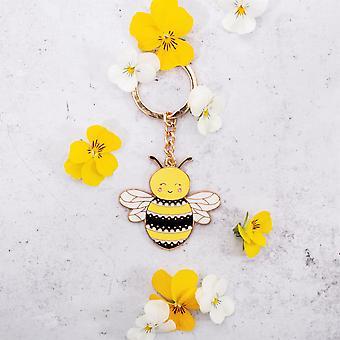 Sass & Belle Happy Bee Enamel Keyring