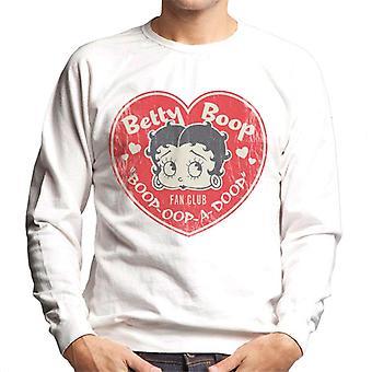 Betty Boop Oop A Doop Love Heart Men's Sweatshirt