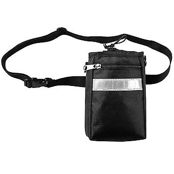 Candy bag for dog training with multiple compartments-black