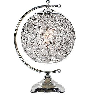 Glam Globe Beaded Crystal Lámpara de mesa colgante