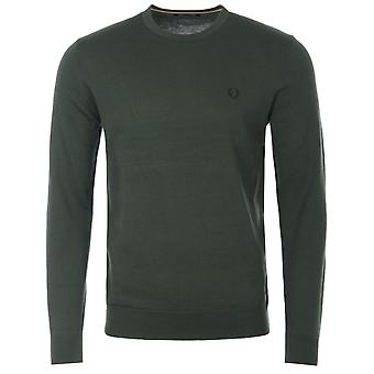 Fred Perry Classic Crew Neck Sweater - Hunting Green