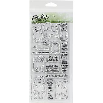 """Picket Fence Studios 4""""X8"""" -leimasetti - Lemmikkieläin kaikki koirat"""