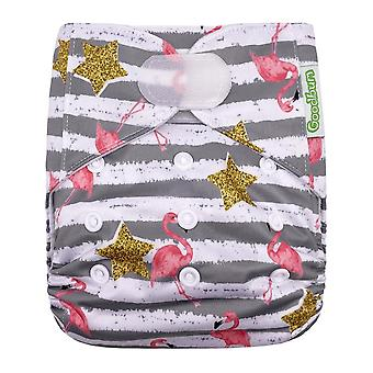 Hook Loop Cloth Diaper, Washable Nappy Baby Diaper