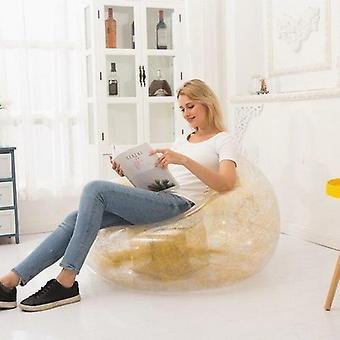 透明な光沢のあるインフレータブルソファ