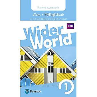 Wider World 1 MyEnglishLab & eBook Students' Access Card (Wider World)