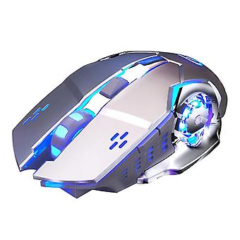 Wireless Gaming Mouse A4 Rechargeable Silent Led Light Ergonomic 6 Buttons 1600dpi Mechanical Gamer Mice Office