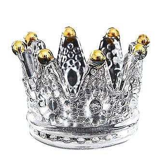 Scandinavisch geïnspireerde stijl kroon kristal kandelaar houder (M) (Goud)