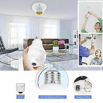 Hd 1080p wifi mini camera v380 vr fisheye camera smart home beveiliging cctv camera lamp panoramisch