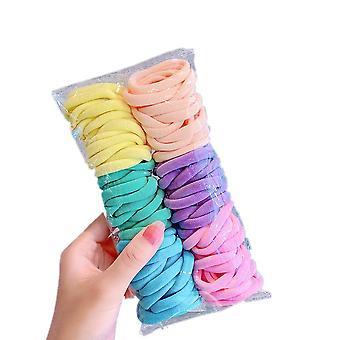 3SET 100pc/set 3.5CM Girls Scrunchies Elastic Hair Band Hair Tie Baby Hair Ring Rope Hovedbeklædning Børn