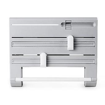 Multifunction 6 In 1kitchen Paper Storage Holder Aluminum Film Cutter Wall Rack