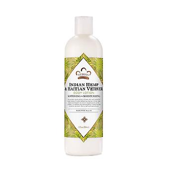 Nubian heritage body lotion indian hemp & haitian vetiver made with fair trade shea butter, 13 oz