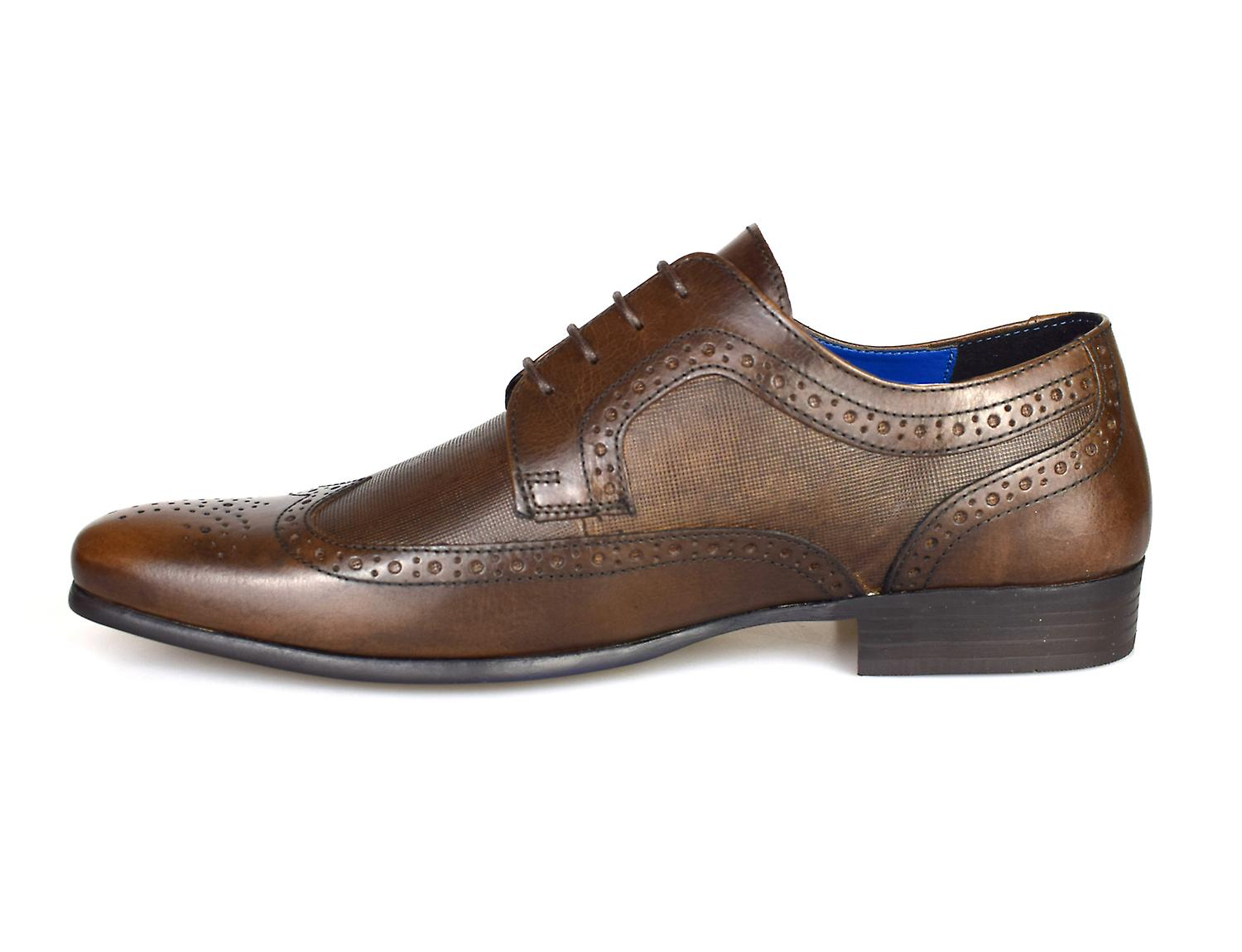Red Tape Vincent Brown Leather Men's Brogue Dress Shoes
