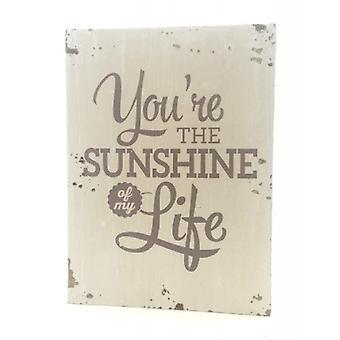 "Houten tekstbord ""Sunshine"""