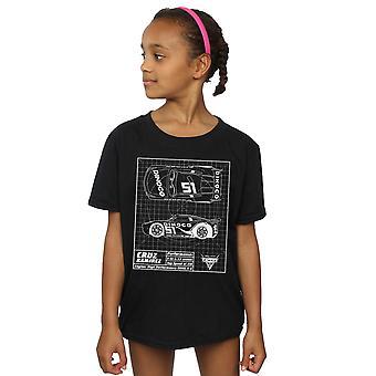 Disney Mädchen Autos Cruz Ramirez Blueprint T-Shirt