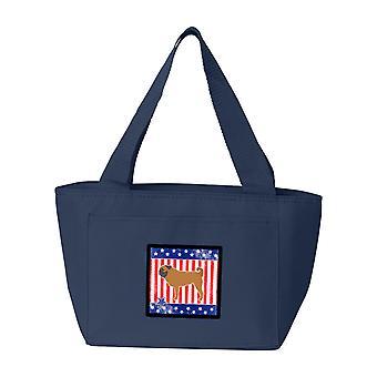 Carolines Treasures  BB3347NA-8808 USA Patriotic Pug Lunch Bag