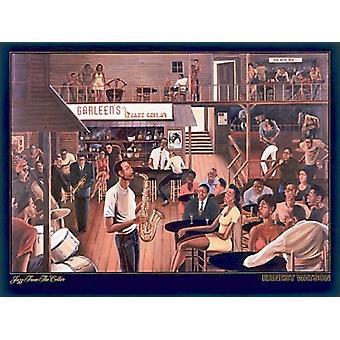 Jazz fra kælder plakat Print af Ernest Watson (36 x 27)