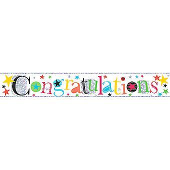 Simon Elvin Congratulations Foil Party Banner