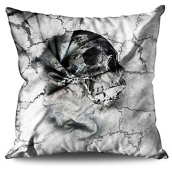 Art Skeleton Death Linen Cushion 30cm x 30cm | Wellcoda