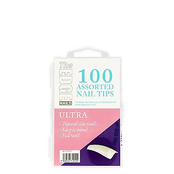 The Edge Nails Ultra Tips x 100 Assorted
