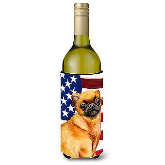 Liten Brabant Griffon patriotiske vinflaske Beverge isolator Hugger