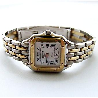 Gold Geneva ladies watch