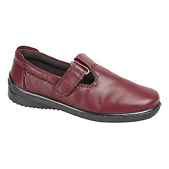 Mod Comfys Womens/Ladies Softie Leather T-Bar Leisure Shoes