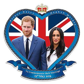 Prince Harry et Meghan Markle Royal Wedding Wall Mounted Carton Découpe / Standee