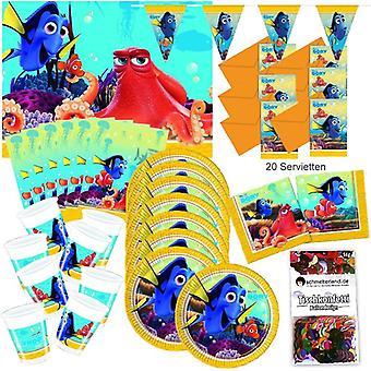 Encontrando a Dóri decoração de aniversário de 51-teilig original festa caixa pacote de festa de Pixar Nemo