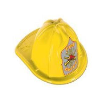 Keltainen keskipitkän palopäällikkö hattu