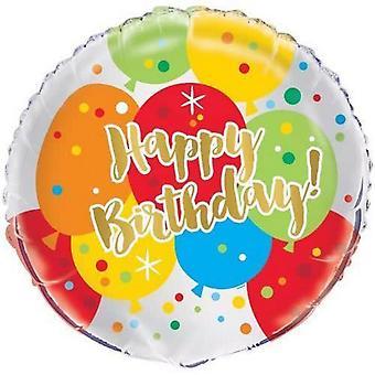 Exclusivo festa feliz aniversário 18 no balão da folha