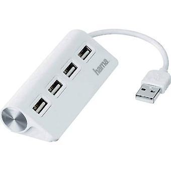 Hama 4 havens USB 2.0 hub wit